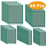 Paxcoo 40Pcs Double Sided PCB Board Prototype Kit for DIY Soldering and Electronic DIY Projects, 5 Sizes