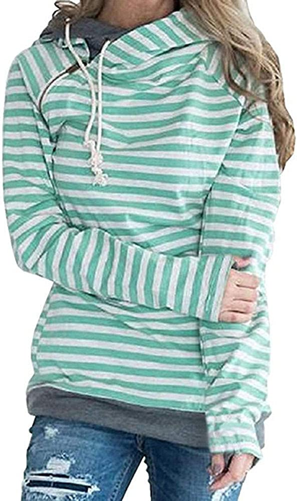 OverDose Damen Frauen Langarm-Sweatshirt Hoodies L/ässige Herbst Sport Outdoor Rollkragen Strickkleid Solide Patchwork Farbe Pullover Kleid L/ässige Lose Rock