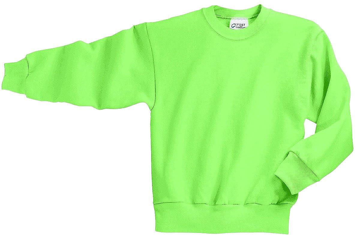 Neon Green Port /& Company Youth Crewneck Sweatshirt XL