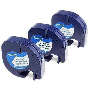 5 PK 91221 91201 kompatibel DYMO Schriftband Beschriftungsband LetraTag 1//2/' LT