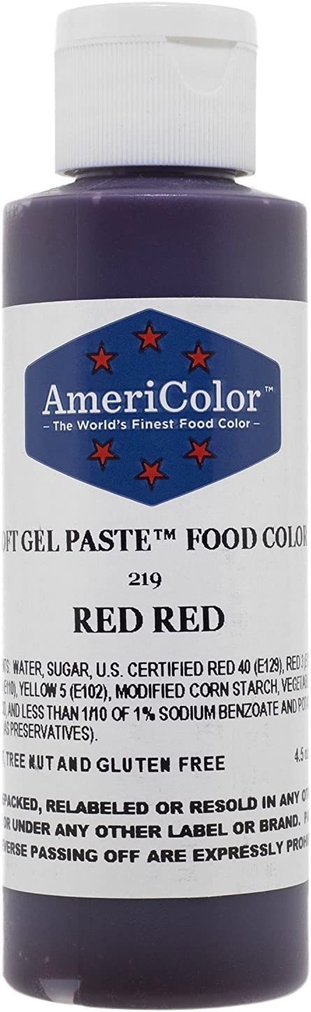 RED RED SOFT GEL PASTE 4.5 OZ Cake Decorating