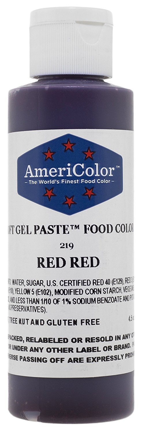 RED RED SOFT GEL PASTE 4.5 OZ Cake Decorating