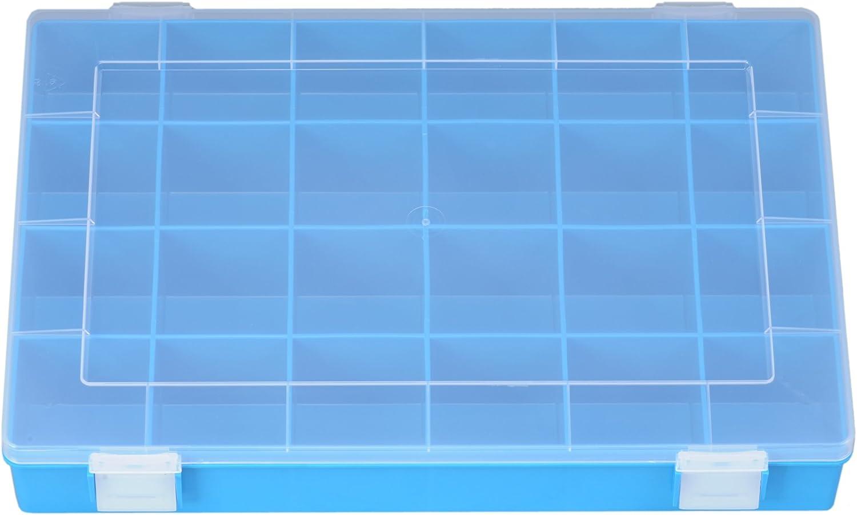 blau 54 Fächer Scharnierverschluss Sortimentskasten 295 x 164 x 16 mm