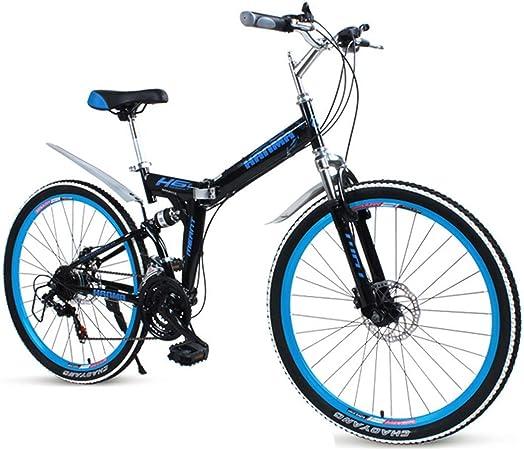 KOSGK Bicicleta MontañA para Hombre Ruedas 24 Bicicletas para NiñOs Cuadro AleacióN 16 SuspensióN Delantera 21/24/27 Velocidad, Rojo, Negro, 21 Velocidades: Amazon.es: Hogar