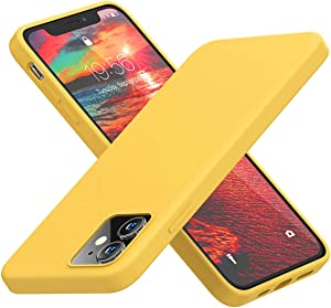 Cordking Compatible with iPhone 12 Silicone Case/iPhone 12 Pro Silicone Case, Shockproof Phone Case with ?Soft Anti-Scratch Microfiber Lining? for iPhone 12 / iPhone 12 Pro 6.1 inch, Yellow
