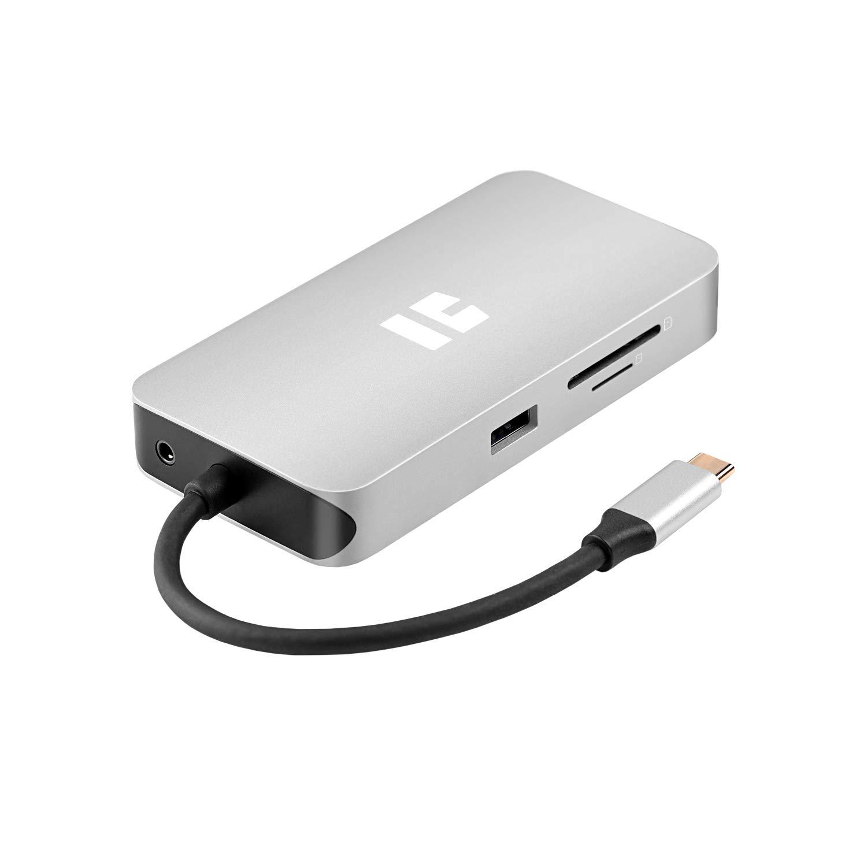 TREKSTOR i.Gear Portplus Prime 10in1 Type-C Mobile Dockingstation, Silver 2 x USB-A 3.1, 1 x USB-C, 1 x HDMI 4K