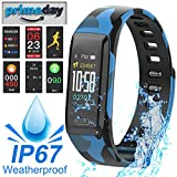 Mazuly Bluetooth Fitness Tracker Activity Tracker with Heart Rate Blood Pressure Sleep Monitor Pedometer Step Calorie Counter Kids Men Women Waterproof Smart Bracelet Watch for IOS Android