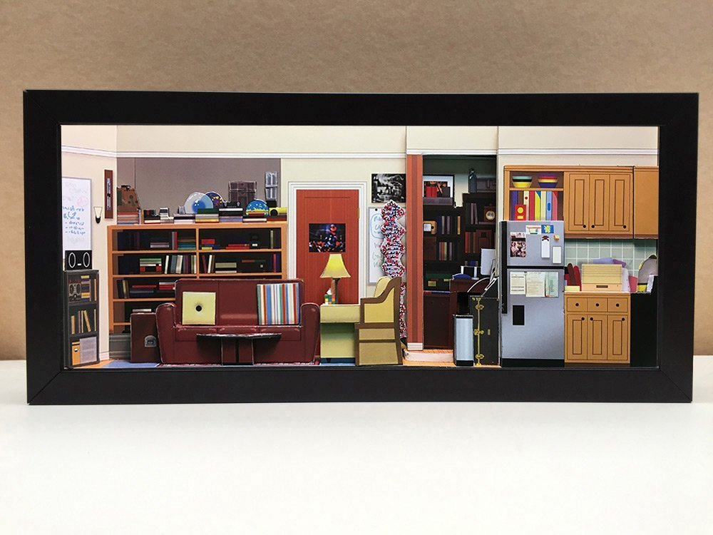 Big Bang Theory Apartment shadowbox diorama - memorabilia picture art collector gift