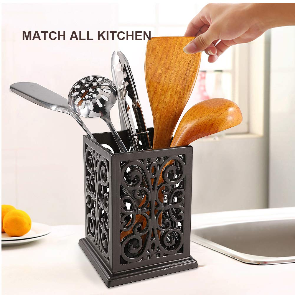 Vintage Decorative Kitchen Utensil Holder Cooking Utensil Organizer Perfect Gift for Cooking by JOGREFUL (Image #7)
