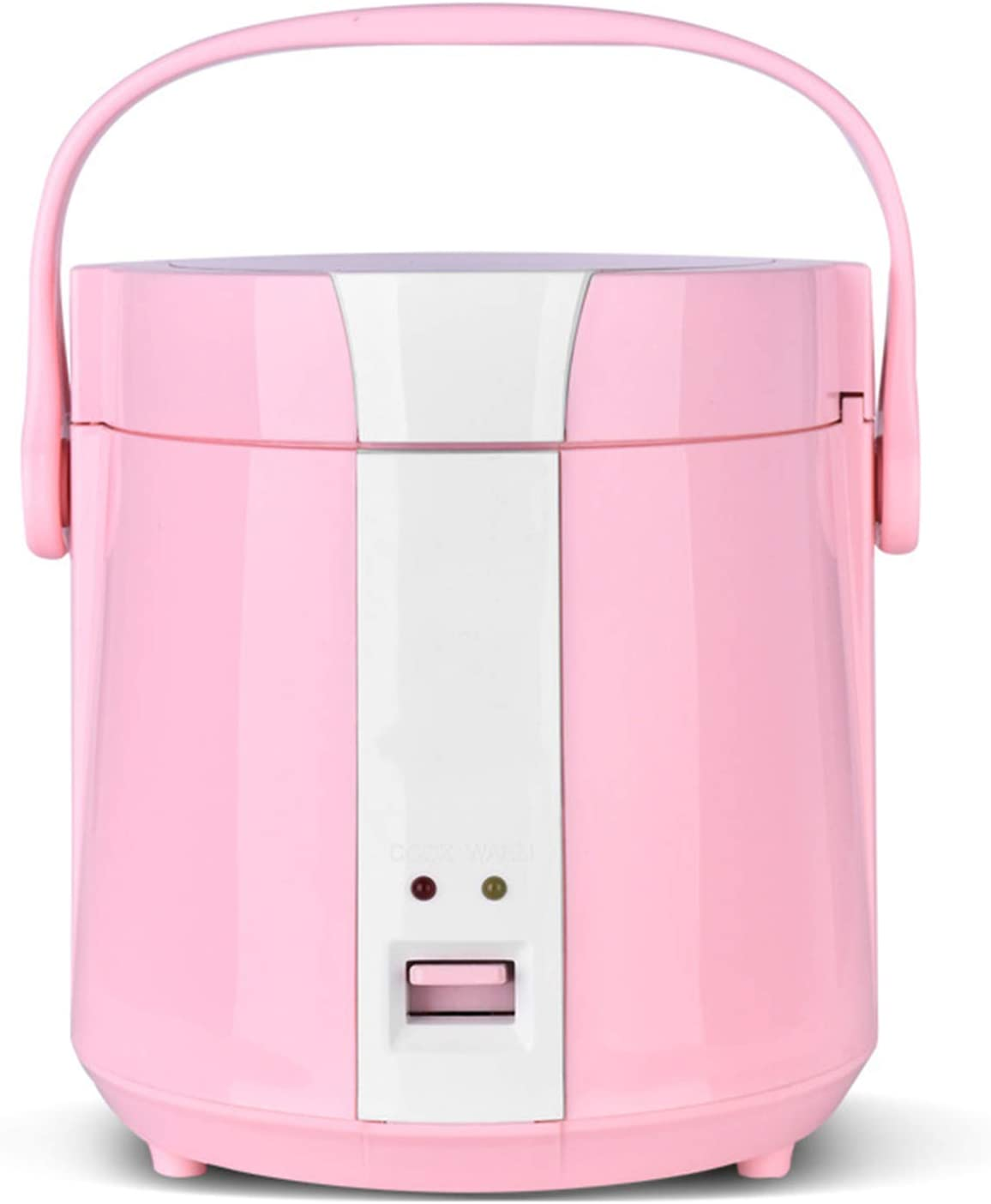 TYI -Portable Mini Rice Cooker, Portable Household Cookware, Household 1-2 People, Double Spray Non-Stick Inner Pot, 1.2L, 200W/220V,Pink