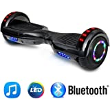 "NHT 6.5"" inch Aurora Hoverboard Self Balancing Scooter Colorful LED Wheels Lights - UL2272 Certified Carbon Fiber/Spider/Built-in Bluetooth Speaker Available"