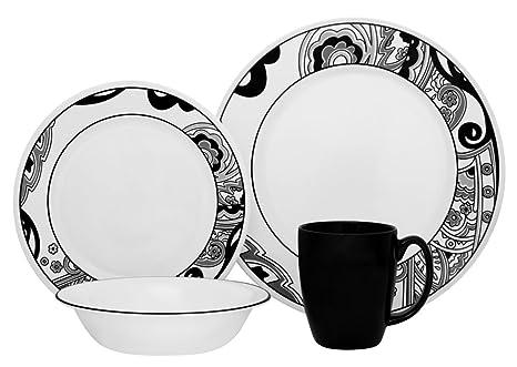 amazon com corelle vive 16 piece dinnerware set nouveau rh amazon com