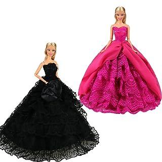 Miunana 2 Grandi Abiti Vestiti da Sposa E Festa di Bambola Fatto A Mano per 11.5/30 Barbie Dolls E Altre 11.5/30 Bambole Regalo