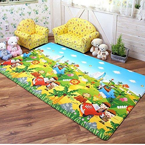 Dwinguler Eco-friendly Waterproof & Slip Resistant Reversible Kids Playmat (Safari Theme) by Dwinguler