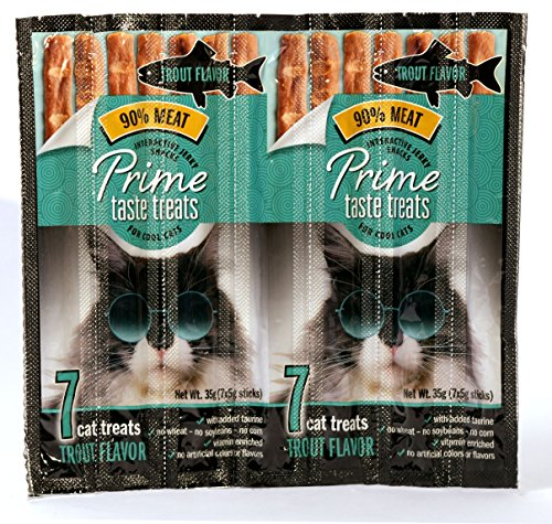 - Prime Taste Treats Trout Jerky Treat For Cats, 35G