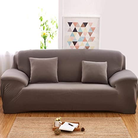 Saquser Fundas de sofá sólidas y Modernas para sillones ...
