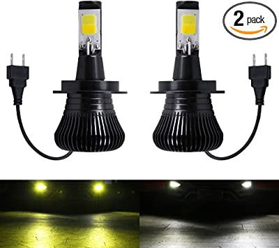 Fog Light 880 881 LED Bulbs White 6000K Ice Blue 8000K Dual Color for Trucks Cars Lamps DRL Daytime Running Lights Kit Replacement Bulb 12V 30W 2800LM Super Bright COB Chips 1 Year Warranty【1797】
