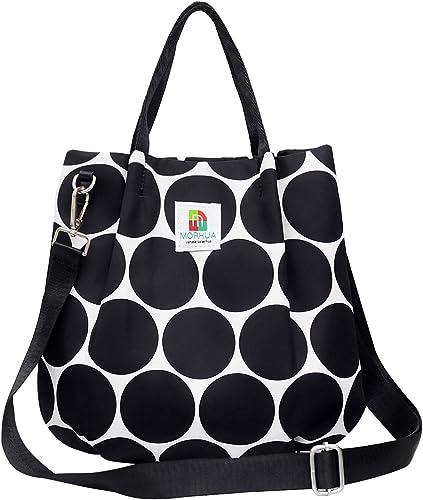 Ladies Shoulder Tote Bag Waterproof Nylon Handbag Top Handle Bag School Shopping