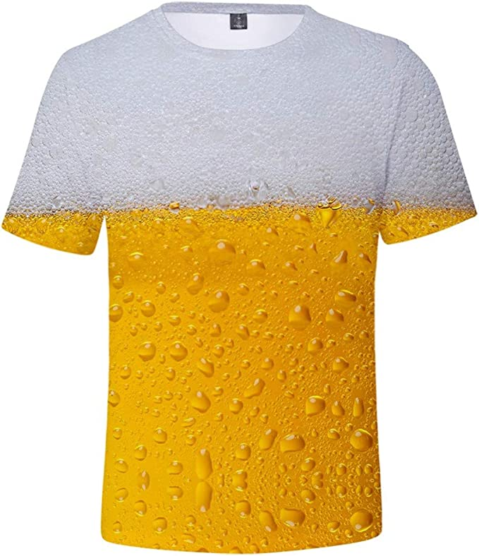 Winter Fest t-Shirts O-Neck Crew Neck Breathable T Shirt for Men