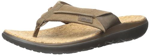 f59f34bd1ab4 Teva Men s Terra-Float Lux Leather Flip Flop  Amazon.ca  Shoes ...