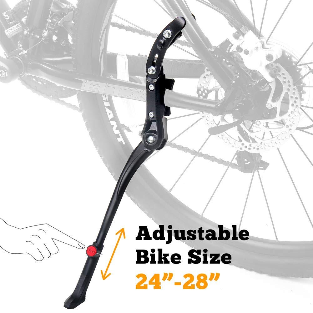 "20/""//28/"" Black Adjustable Centre Mount Pro Series Bike//Cycling Kickstand"