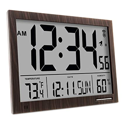 Marathon cl030062 Slim-Jumbo Atomic Digital Reloj de Pared