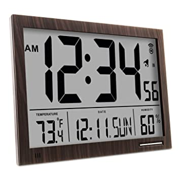 Marathon cl030062 Slim-Jumbo Atomic Digital Reloj de Pared: Amazon.es: Hogar