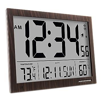 Marathon cl030062 Slim-Jumbo Atomic Digital Reloj de Pared: Amazon.es: Hogar