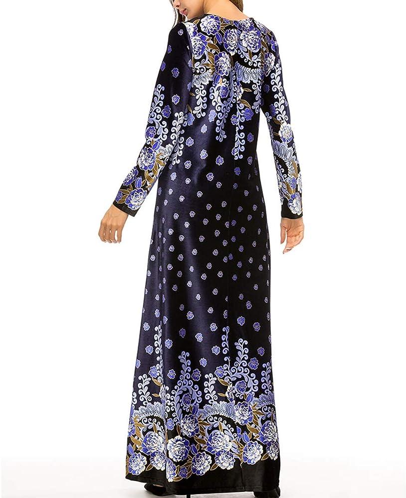 zhxinashu Musulmán Ropa Falda Larga Vestidos de Mujer Abayas ...