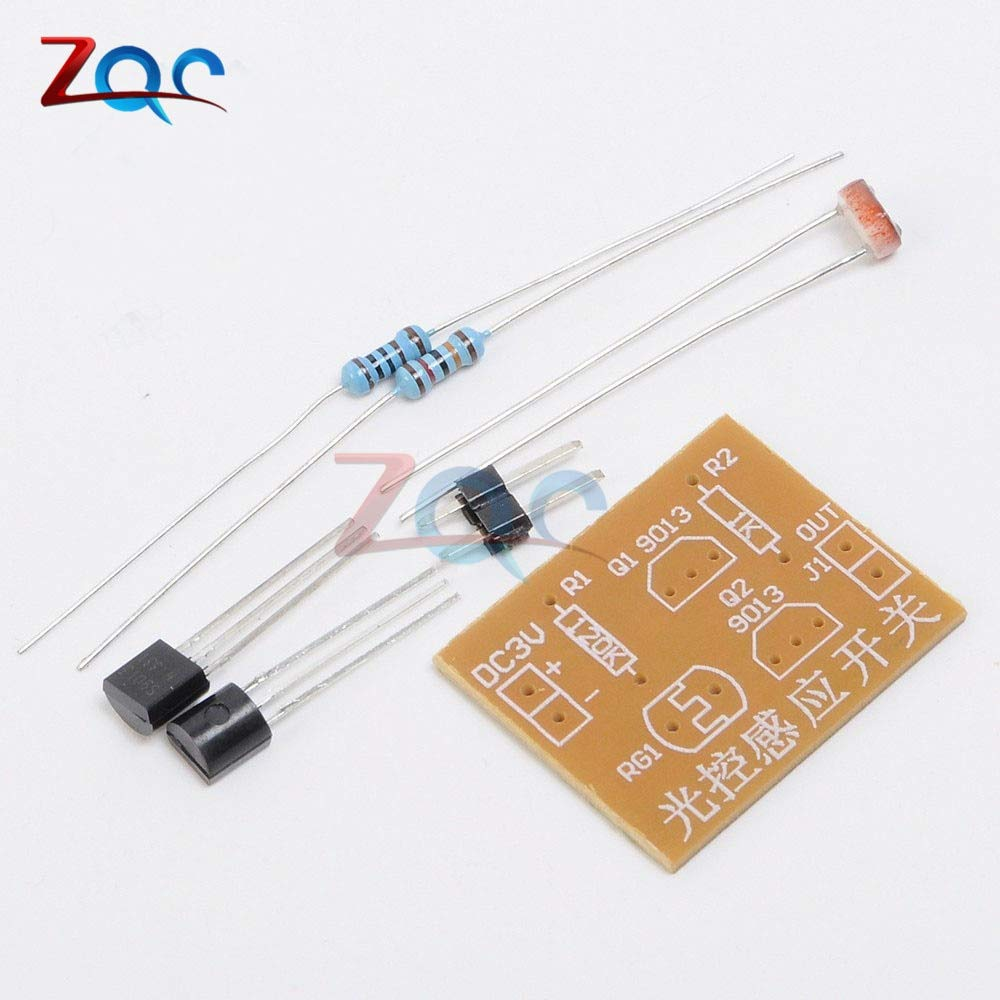 2pcs Light Control Sensor Switch DIY Kit Photosensitive Induction Switch Kits DIY Electronic Trainning Integrated Circuit Suite
