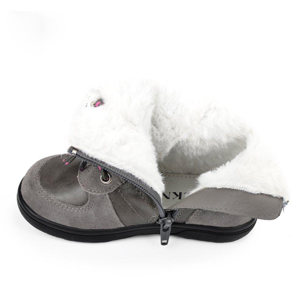 SUNNY & Baby niños Martin botas de nieve Niños Invierno Cálido zapatos para niñas zapatos Toddler goma botines resistente a los rasguños, Gris, ...