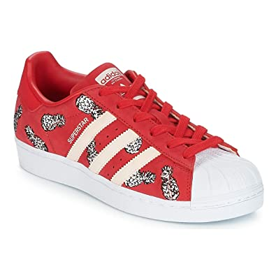 Adidas Superstar W, Chaussures de Fitness Femme, Rouge Escarl/Ftwbla 0, 36
