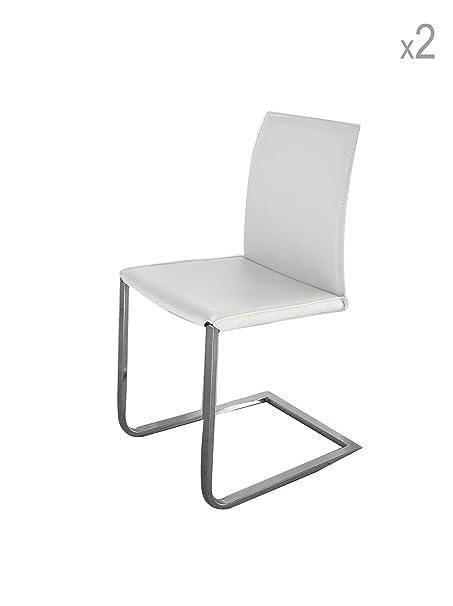 Sedie Metallo E Cuoio.Design Twist Sedia Set Di 2 Sedie Metallo Cuoio Rigenerato