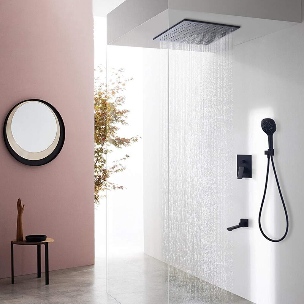 ヨーロッパのバスルーム隠しシャワーシステム、ファイン銅レインシャワーヘッド、3機能ハンドシャワー、多機能蛇口 (サイズ さいず : 12-inch) B07RLPGPY5  12-inch