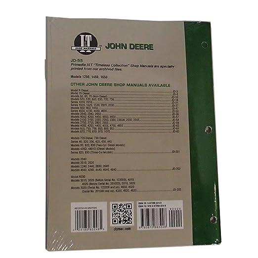 amazon com: it shop service manual jd-55 for john deere 1250 1450 1650:  industrial & scientific