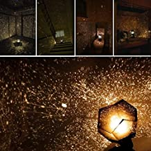 Sky Projection Night Light Projector Lamp,Kingfansion Phantom Projection Projector Starry Sky Night Lamp For Kids Adults Home Bedroom Decor (Yellow)