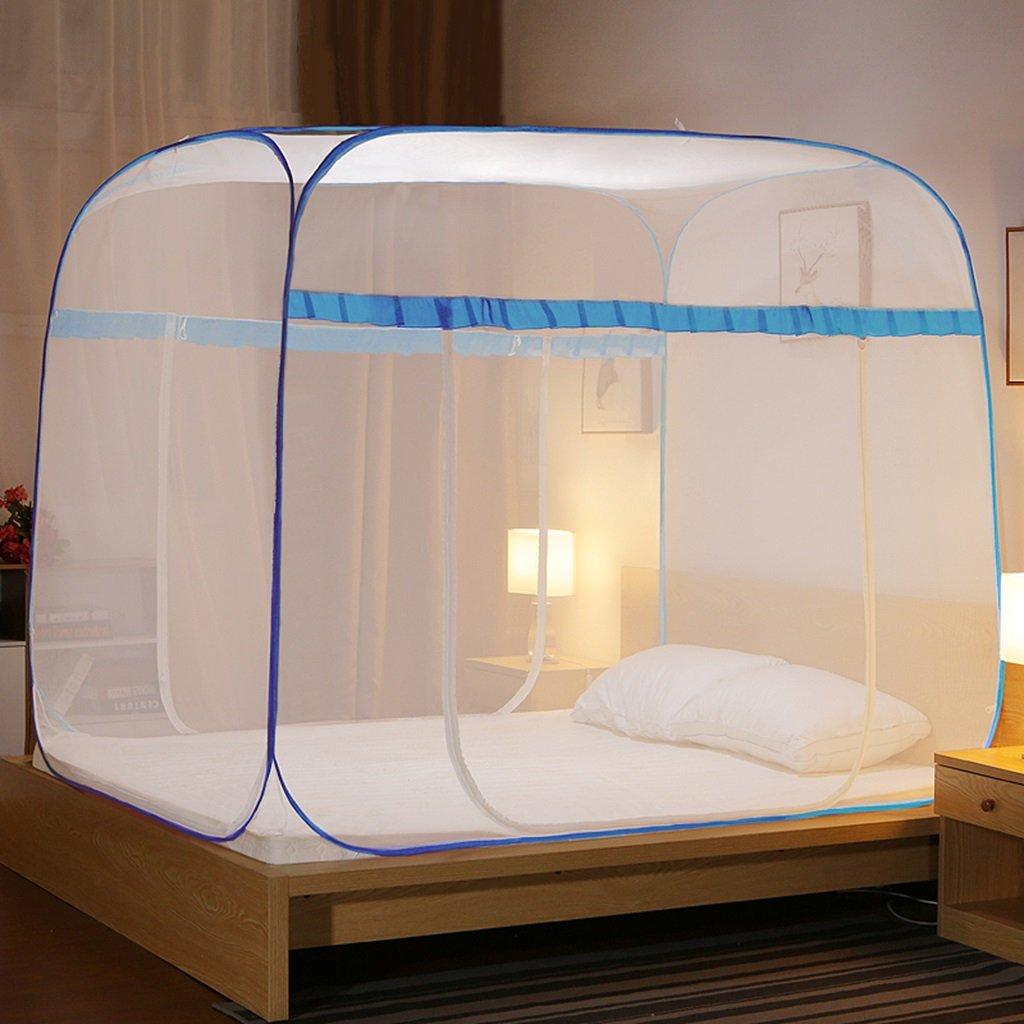 MZ Keine Notwendigkeit, Moskitonetze, yurt-Style dreitürigen offenen Reißverschluss Oben Oben Reißverschluss 1,5/1,8 Meter Bett Doppelhaushalt einfache Moskitonetz zu installieren 286e7b