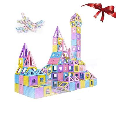 ZHANG Bloques magnéticos educativos Bloques de construcción magnéticos para niños, la imaginación con Bolsa de Almacenamiento(70Pieces) Bloques magnéticos de ABS no tóxicos para: Hogar