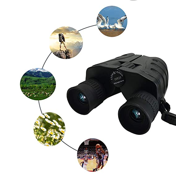 10x25 Compact Binoculars with Clearly Eyepiece High Resolution Compact Binocular Easy Focus for Outdoor Hunting, bird watching, Traveling, Sightseeing Fit For adults and kids