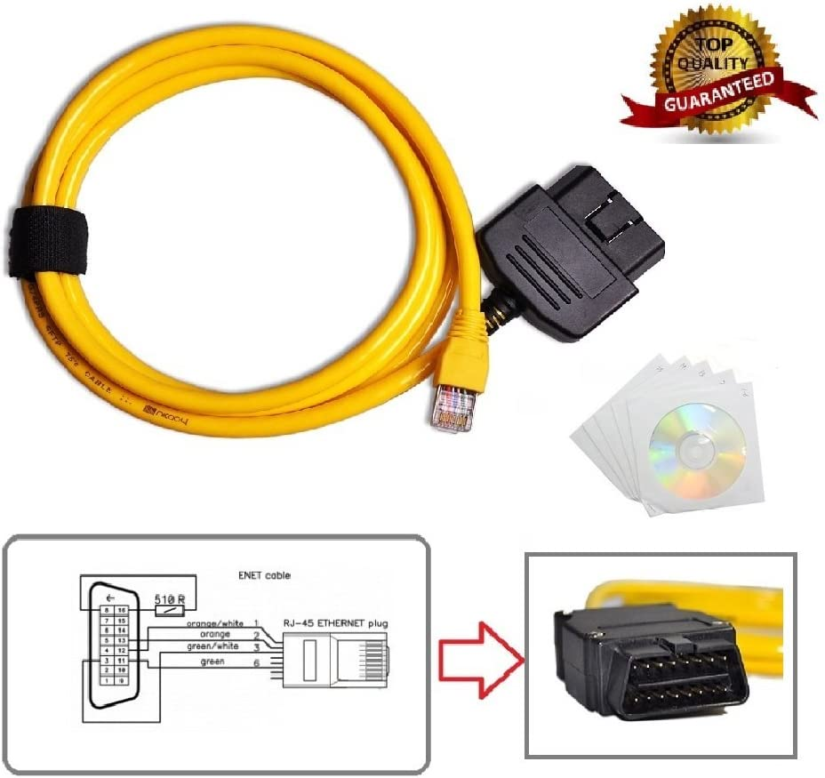 GG-1 Ethernet R45 ENET OBD Interface Cable F Series Coding Cable