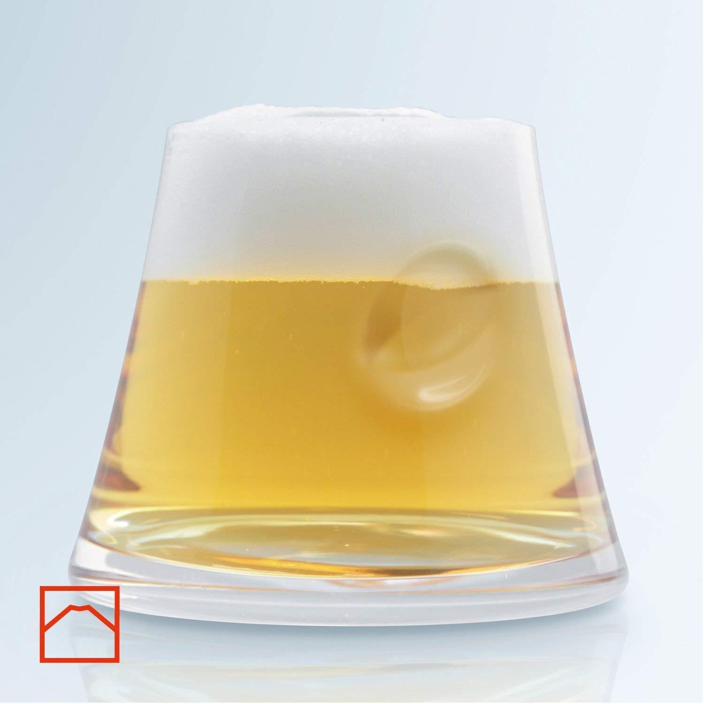 Mars Planning [Premium Gift Set] Tajima Glass Mount Fuji Base Fujisan Glass Set Fuji Glass / Fujisan Hoei Glass (Clear) / With Wooden Coaster by Mars (Image #7)