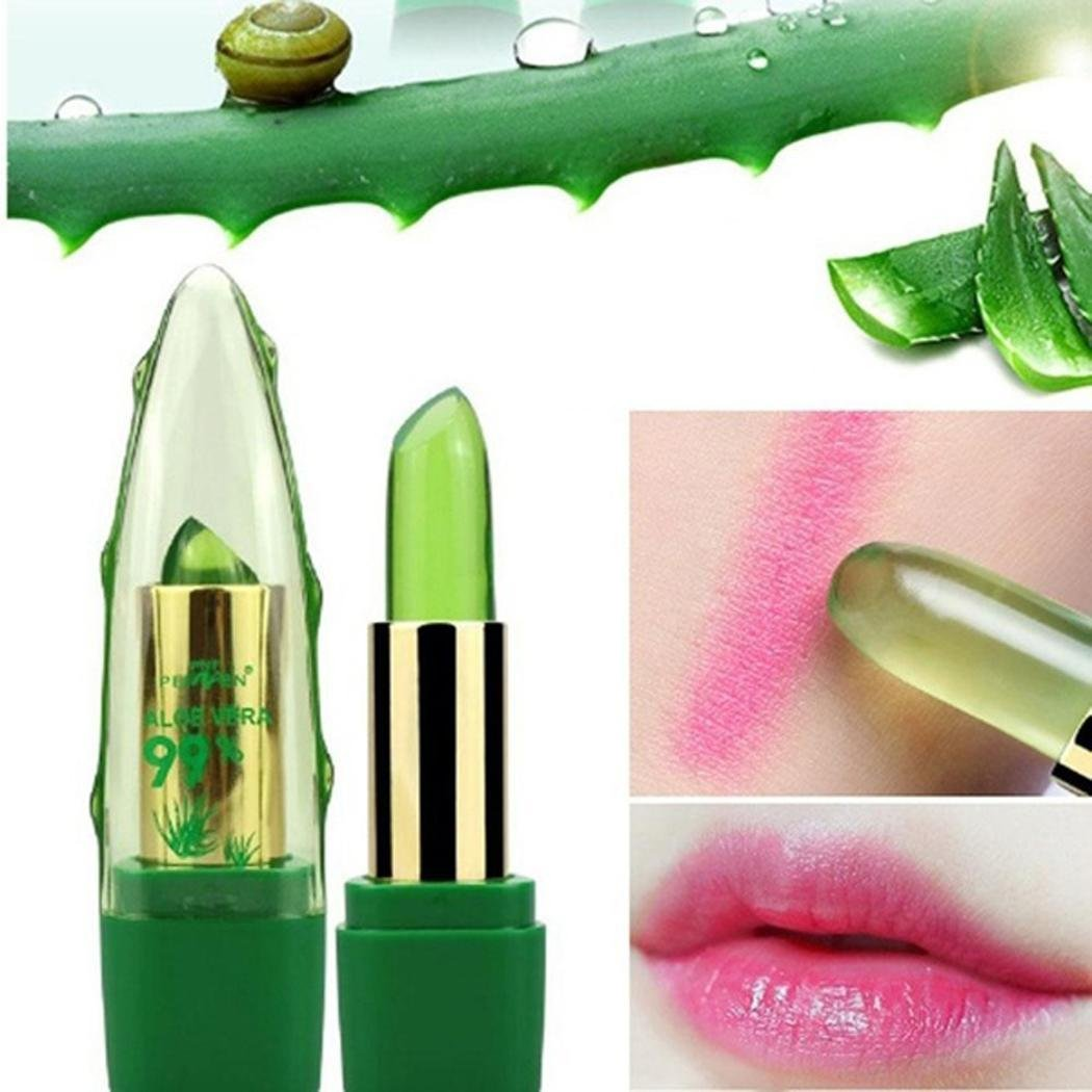 Aloe Vera Jelly Color Temperature-changed Lipstick Moisturizing Gloss Lip Makeup
