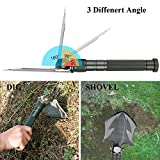 Glossday Military Folding Shovel Multitool,Portable Survival Shovels,Tactical Entrenching Tool,Heavy Duty Emergency tool, Outdoor Gear for Camping Backpacking,Fishing,Hiking