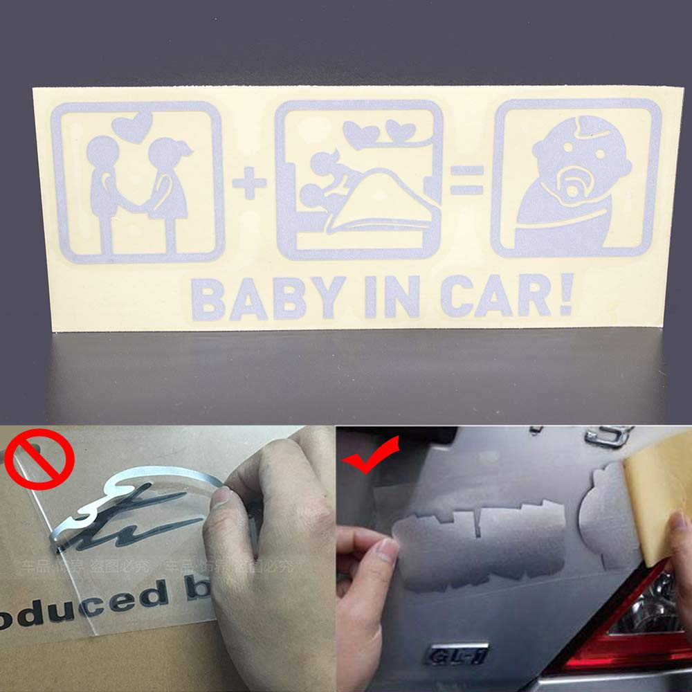 Next2U Baby in Car Stickers Baby on Board Funny Window Sticker Decals How to Make a Baby 1 Pcs