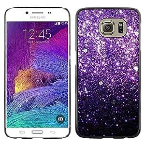 Be Good Phone Accessory // Dura Cáscara cubierta Protectora Caso Carcasa Funda de Protección para Samsung Galaxy S6 SM-G920 // Glitter Bling Shiny Stars Iridescent