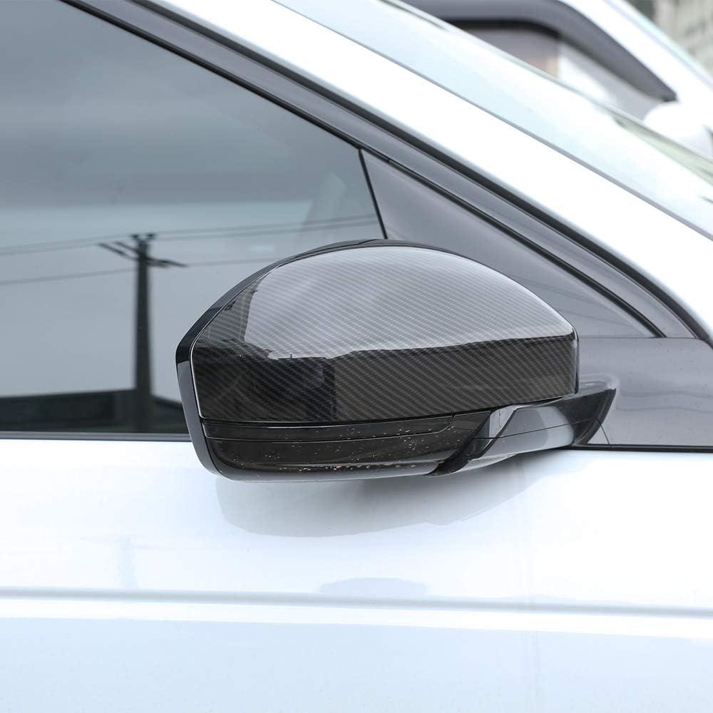 LLKUANG Rearview Mirror Cover TrimFor Jaguar F Pace X761 2016 2017 2018 Carbon Fiber Style