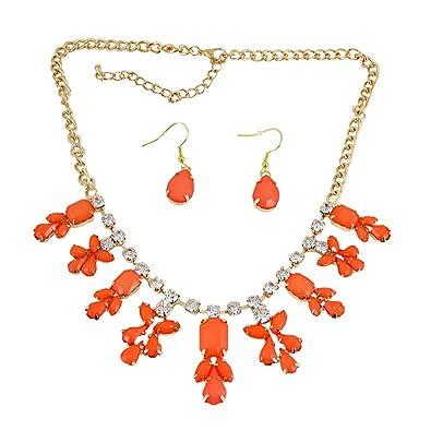 Amazon chandelier necklace earrings set coral jewelry sets chandelier necklace earrings set coral aloadofball Gallery