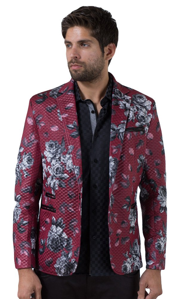 Barabas Men's ''Roses'' Blazer Jacket XX Large