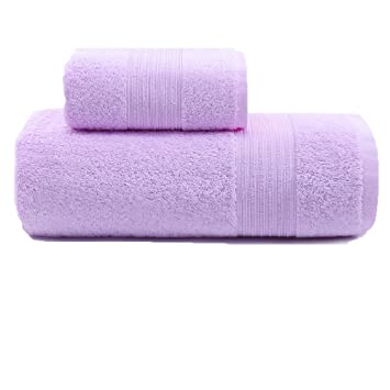 Toalla De Baño Adulto Algodon, Aumentar Engrosamiento Toalla para Hombres Y Mujeres, 140 * 70 Cm,Traje Púrpura: Amazon.es: Hogar