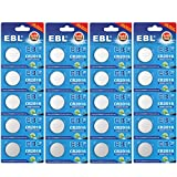 EBL CR2016 Type 2016/DL2016/ECR2016 3V Lithium Coin Button Cell Battery for Watch Toys Electronic (20pcs)